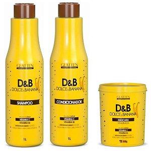 Glatten Dolce & Banana Vitaminada Kit (3 itens)