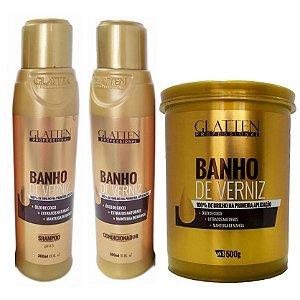 Glatten Banho de Verniz kit (3 itens)