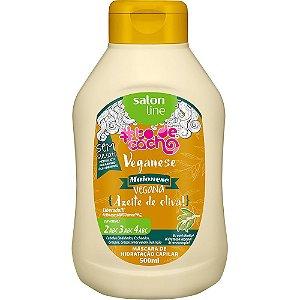 Salon Line Veganese Azeite de Oliva Maionese Capilar Vegana 500ml