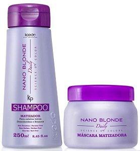 Kaedo Nano Blonde Shampoo e Máscara Matizadora