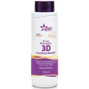 Magic Color Gloss Matizador 3D Platinum Branco - Efeito Platinado - 500ml