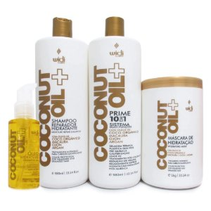 Widi Care Tratamento 10 em 1 Coconut Oil BB Cream Capilar (4 itens)