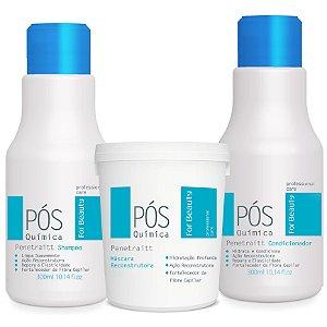 For Beauty Pós Química Penetraitt Kit com Máscara 240g (3 itens)