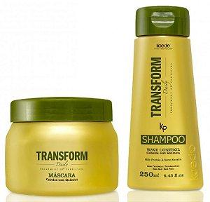 Kaedo Transform Shampoo e Máscara Pós-Química Wave Control (2 Produtos)
