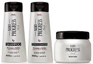 Kaedo Nano Progress Kit Pós Progressiva (3 Produtos)