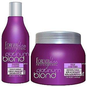 Forever Liss Platinum Blond - Kit Manutenção Desamarelador (2 itens)