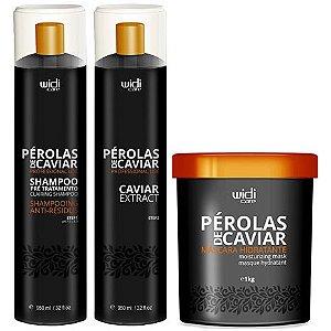 Widi Care Pérolas de Caviar Progressiva com Máscara (3 itens)