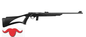 "RIFLE .22 BOLT ACTION 8122 - 23"" CORONHA THUMBHOLE POLIPROPILENO PRETA"