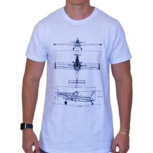 Camiseta Air Tractor Project - Branca