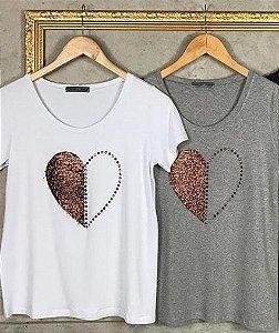 T-Shirt Coração Cobre