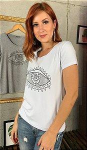 T-Shirt 0lho Grego Prata
