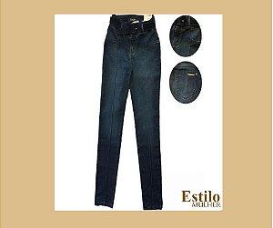 Calça Jeans Super Skinny com Cintura Alta