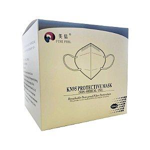Máscara de Proteção Facial KN95 Clip Nasal Caixa c 50