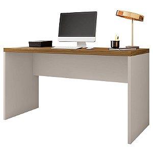 Mesa Para Computador Escritório Studio Bege Marrom Caemmun