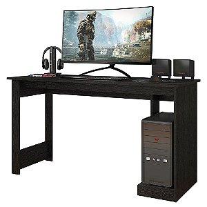 Mesa Gamer Para Computador Escrivaninha Preta 136 Cm Caemmun