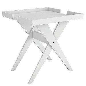 Mesa Lateral e Apoio Sweet Branco - Líder Design