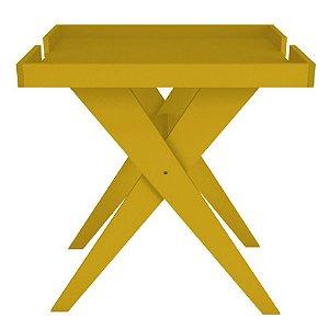 Mesa Lateral e Apoio Sweet Amarelo - Líder Design