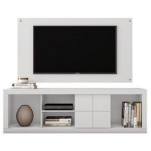 Rack e Painel Para TV Até 65 Polegadas Cedro Branco - Caemmun