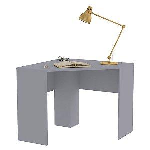 Mesa De Computador Canto Cubic Cinza Fosco - Caemmun