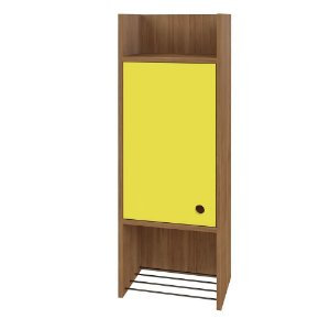 Nicho Decorativo 1 Porta Multi Buriti/Amarelo - Líder Design