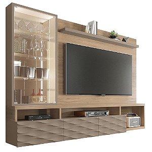 Painel Home Suspenso Para TV 75 Polegadas Wave Cordia / Fendi