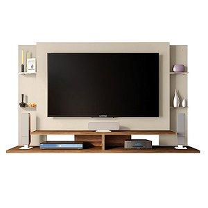 Painel Para TV 55 Polegadas Domínio Off White / Buriti - Caemmun