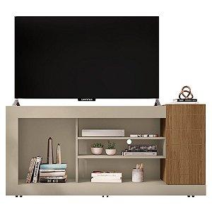 Rack Para TV Até 50 Polegadas Goya Off White / Buriti