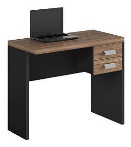 Mesa de Computador 900 e Gaveteiro Studio Argan/PretoTex