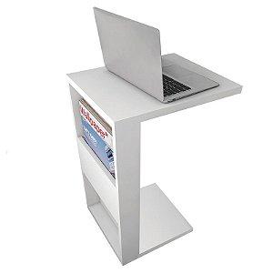 Mesa De Apoio Para Notebook e Sofá Branco Book Líder Design