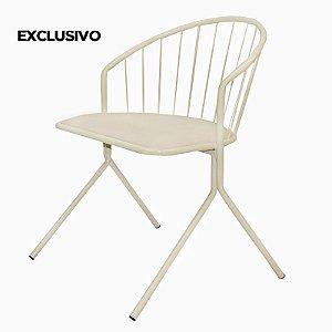 Cadeira Aramis Decorativa Bege - Overseas