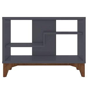 Estante Para Livro Decorativa Cinza Loft - Líder Design