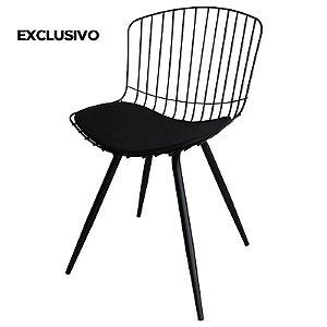 Cadeira Berta Decorativa Preta - Overseas