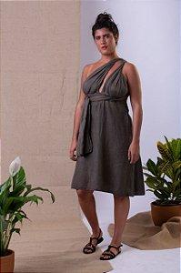 Vestido Jenipapo - Seda Sustentável