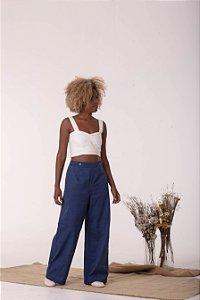 Calça Pantalona Azul Renasce - Algodão Orgânico