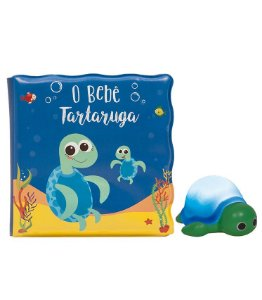 Kit livrinho de banho tartaruginha