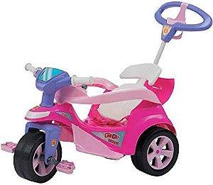 Carrinho de Passeio Baby Trike Rosa