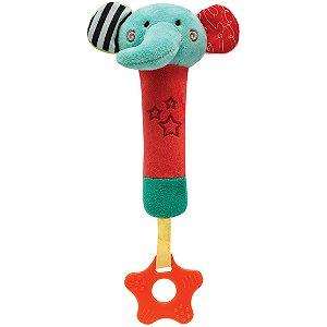 Buzininha com Mordedor Happy Zoo - Elefantinho