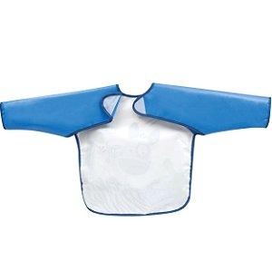 Avental Babador com Mangas Azul