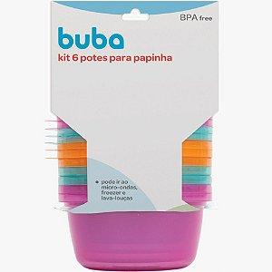 Kit 6 Potes para Papinha - Rosa