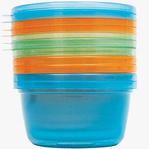 Kit 6 Potes para Papinha - Azul