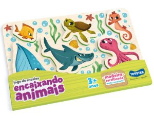 Jogo De Encaixe - Encaixando Os Animais (Fundo Do Mar)