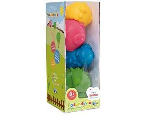 Brinquedo De Empilhar - Fazendinha (Com 4 Animais)