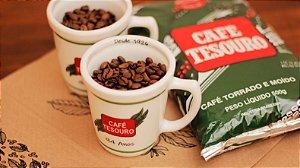 Kit 2 - 2 xícaras + 1 pacote 500g de café