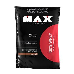 100% WHEY - 2KG (REFIL) - MAX TITANIUM
