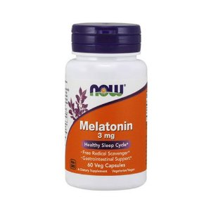 MELATONIN 3MG - 60 CÁPSULAS - NOW FOODS