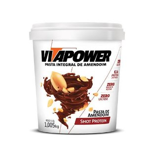 PASTA DE AMENDOIM INTEGRAL - SHOT PROTEIN - 1KG - VITA POWER