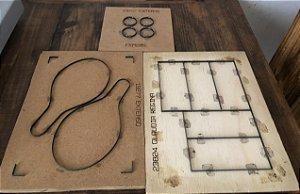 Faca de corte para kit raquetes, trabalhe com lembrancinhas perfeitas