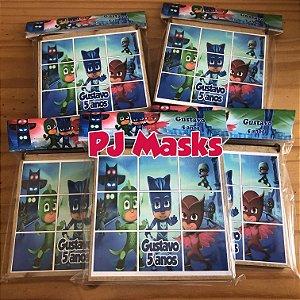 Kit Jogo da Velha, personalizado PJ Masks