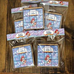 Kit Jogo da Velha, personalizado Ariel Pequena Sereia
