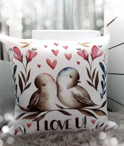 Capa para Almofada_Pássaros